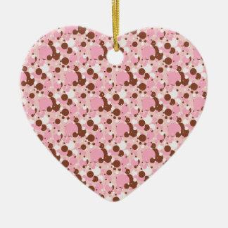 Neapolitan DOts 01-Lt Pink-HEART ORNAMENT