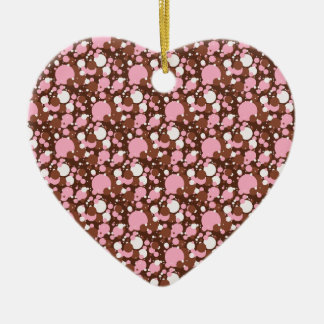 Neapolitan Dots 03 Brown M-HEART ORNAMENT