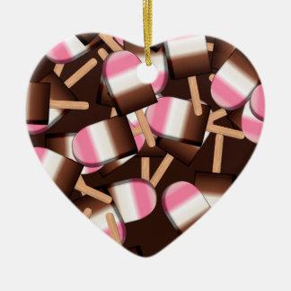 Neapolitan Ice Cream Bars 2-HEART ORNAMENT