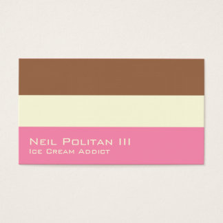 Neapolitan Ice Cream Business Card