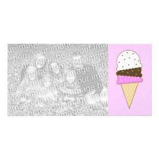 Neapolitan Ice Cream Cone Card