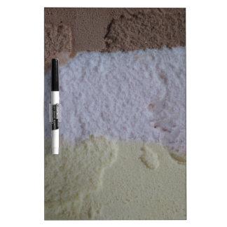 Neapolitan Ice Cream Dry Erase Board