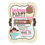 Neapolitan Ice Cream Kid's Birthday Party Card