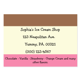 Neapolitan Ice Cream Large Business Cards (Pack Of 100)