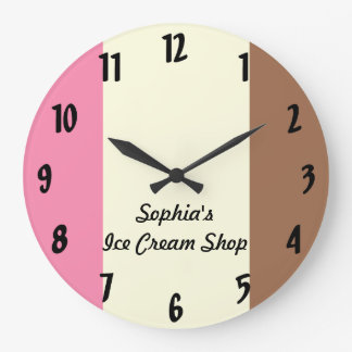 Neapolitan Ice Cream Large Clock