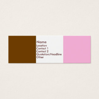 Neapolitan Ice Cream Mini Business Card