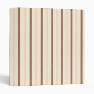 Neapolitan Ice Cream Stripes Binder