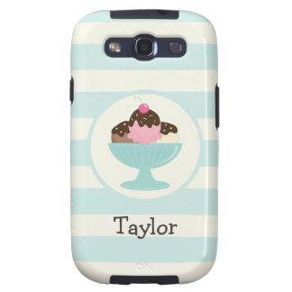 Neapolitan Ice Cream Sundae; Cherry & Sprinkles Samsung Galaxy S3 Cover