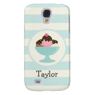 Neapolitan Ice Cream Sundae; Cherry & Sprinkles Samsung Galaxy S4 Cover