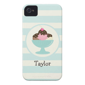 Neapolitan Ice Cream Sundae; Cherry & Sprinkles iPhone 4 Cases