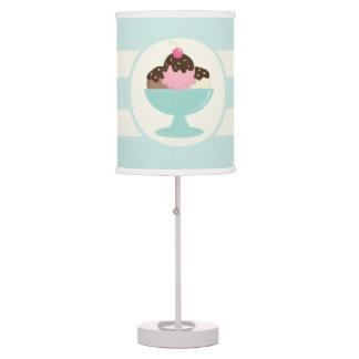 Neapolitan Ice Cream Sundae; Cherry & Sprinkles Desk Lamp