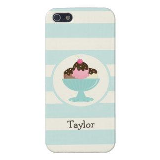 Neapolitan Ice Cream Sundae; Cherry & Sprinkles Covers For iPhone 5