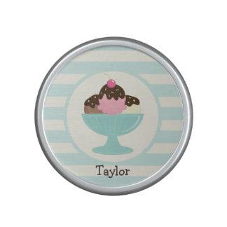 Neapolitan Ice Cream Sundae; Cherry & Sprinkles Bluetooth Speaker