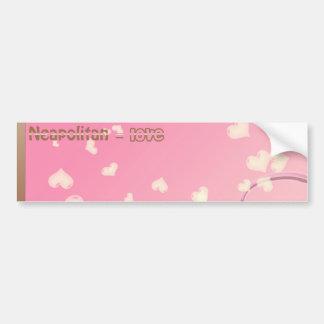 Neapolitan Love Bumper Sticker
