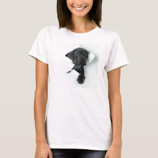 Neapolitan Mastiff black dog  Tearing Through T-Shirt