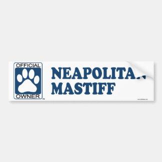 Neapolitan Mastiff Blue Bumper Sticker