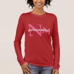 Neapolitan Mastiff Breed Monogram Design Long Sleeve T-Shirt