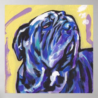 Neapolitan Mastiff bright  Pop art poster print