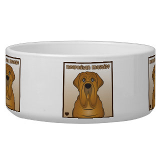 Neapolitan Mastiff Cartoon Bowl