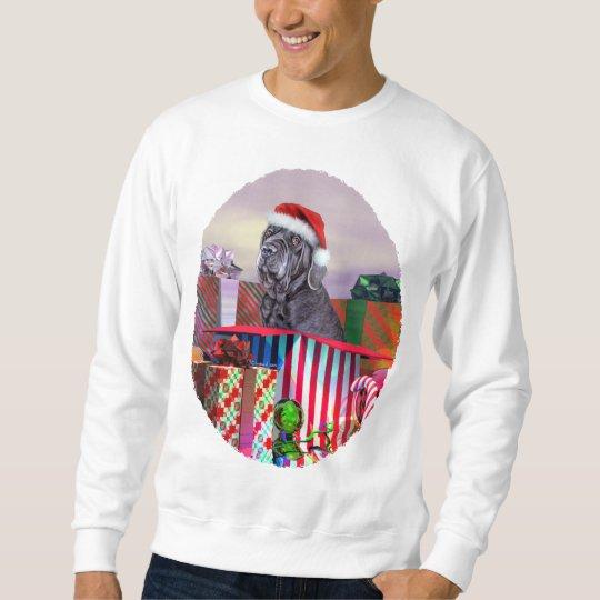 Neapolitan Mastiff Christmas Blue Sweatshirt