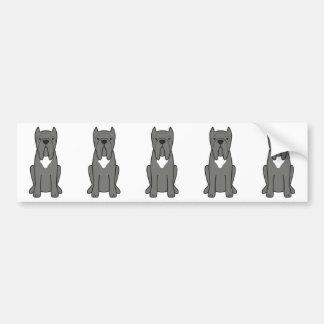 Neapolitan Mastiff Dog Cartoon Bumper Sticker