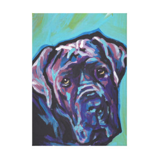 neapolitan Mastiff Dog Pop Art Canvas Print