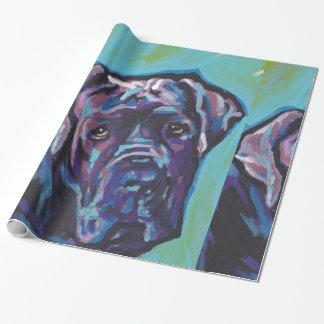 neapolitan Mastiff Dog Pop Art Wrapping Paper