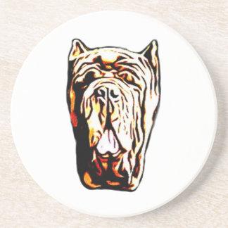 Neapolitan Mastiff dog Sandstone Coaster