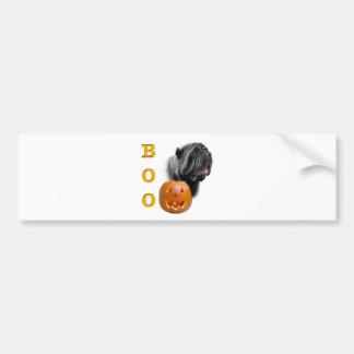 Neapolitan Mastiff Halloween Boo Bumper Sticker