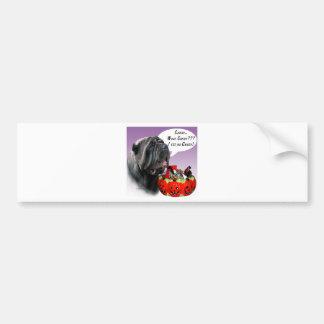 Neapolitan Mastiff Halloween Candy Bumper Sticker