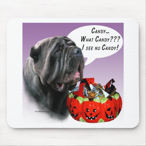 Neapolitan Mastiff Halloween Candy Mouse Pad