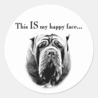 Neapolitan Mastiff Happy Face Sticker