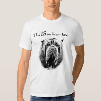 Neapolitan Mastiff Happy Face T-shirts