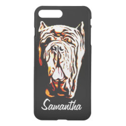 Uncommon iPhone 7 Plus Clearly™ Deflector Case with Mastiff Phone Cases design