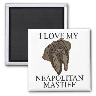 NEAPOLITAN MASTIFF Love! Refrigerator Magnet