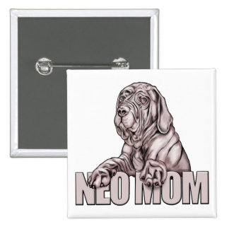 Neapolitan Mastiff Mom Black UC Pinback Button