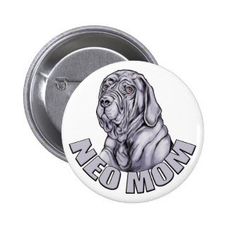 Neapolitan Mastiff Mom Blue UC Pinback Button