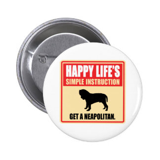 Neapolitan Mastiff Pinback Button