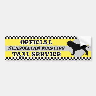 Neapolitan Mastiff Taxi Service Bumper Sticker Car Bumper Sticker
