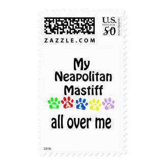 Neapolitan Mastiff Walks Design Postage