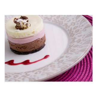 Neapolitan mousse dessert 2 postcard
