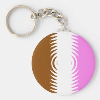 Neapolitan Pattern Basic Round Button Keychain