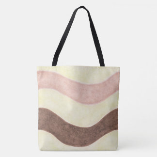 Neapolitan Pink Brown and White Tote Bag
