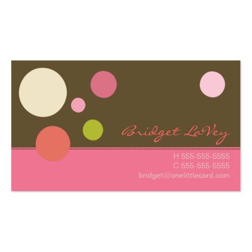 Neapolitan Polka Dots Business Card