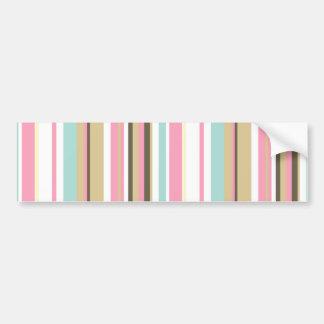 Neapolitan Striped Bumper Sticker