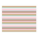 Neapolitan Striped Postcards