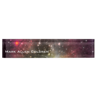 Near a Red Star Desk Name Plate