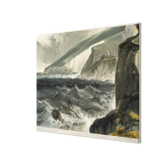 Near Beachy Head, from 'A Voyage Around Great Brit Canvas Print