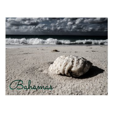Beach Themed Near Black&White Custom Destination Postcard