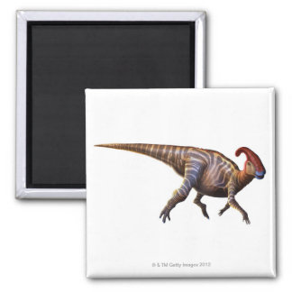 Near-Crested Lizard 2 Inch Square Magnet